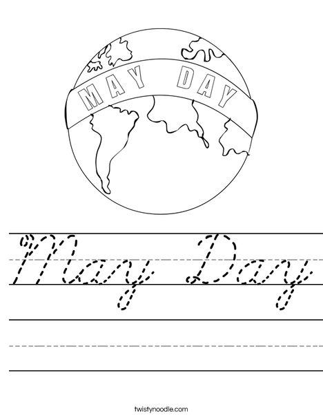 May Day Earth Worksheet
