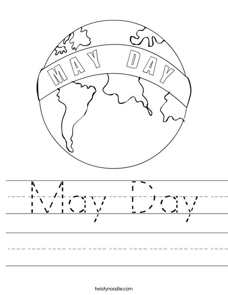 May Day Earth Worksheet
