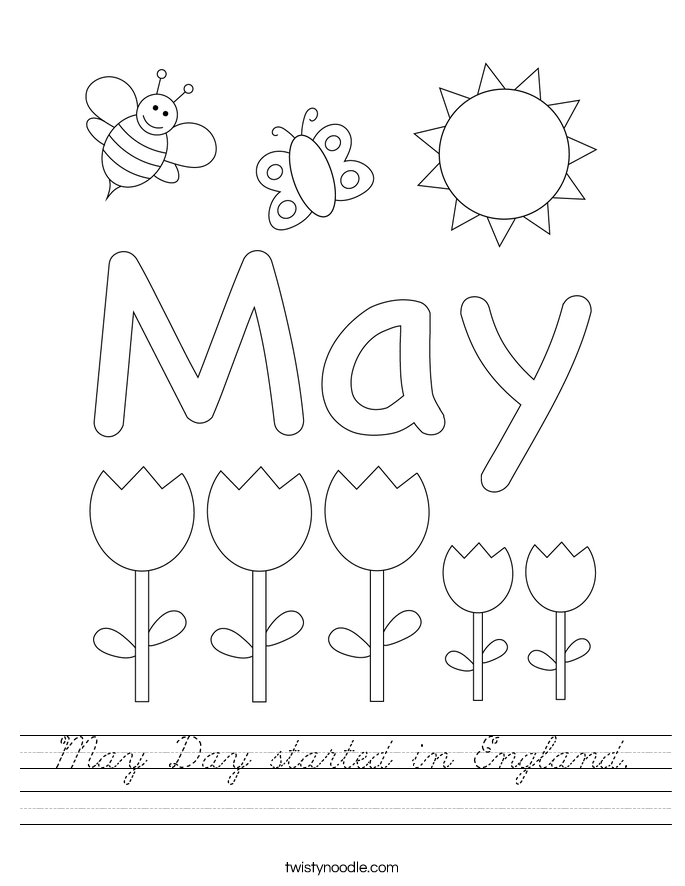 May Day started in England. Worksheet