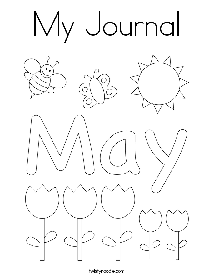 My Journal Coloring Page