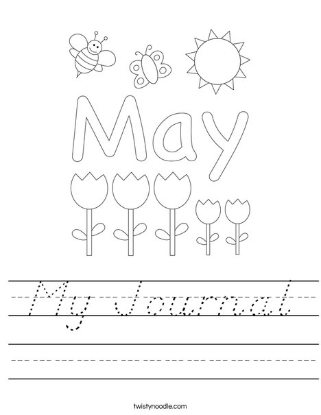 May Day with Butterfly Worksheet