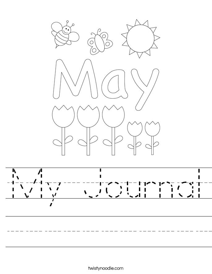 My Journal Worksheet