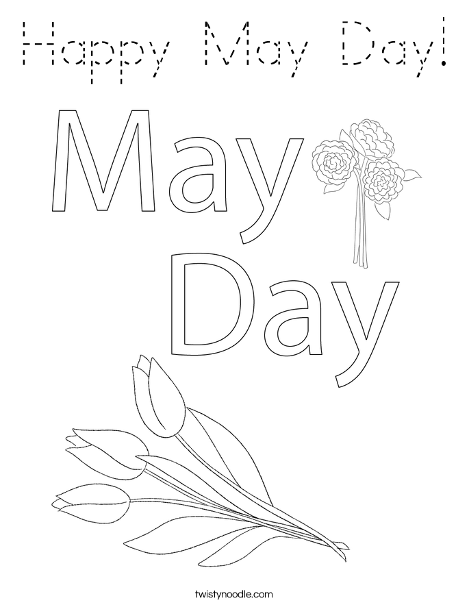 Happy May Day! Coloring Page
