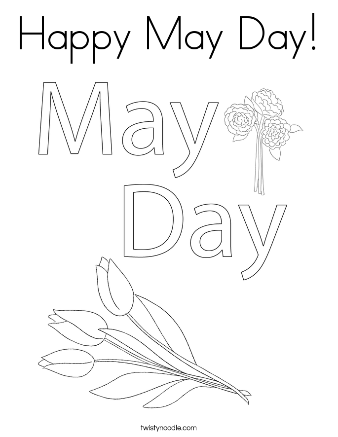 free may day coloring pages - photo#22