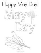 Happy May Day Coloring Page
