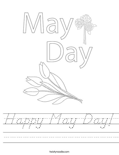 May Day with Cake Worksheet
