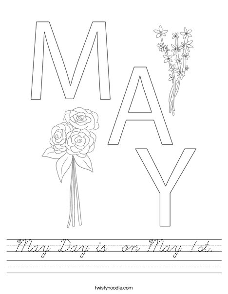 May Day Worksheet