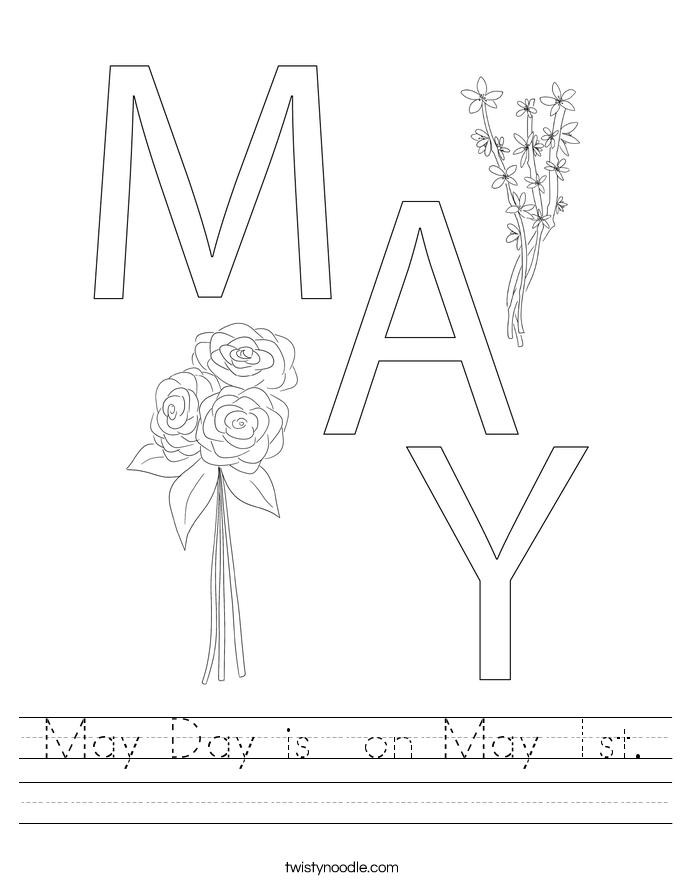 May Day is  on May 1st. Worksheet