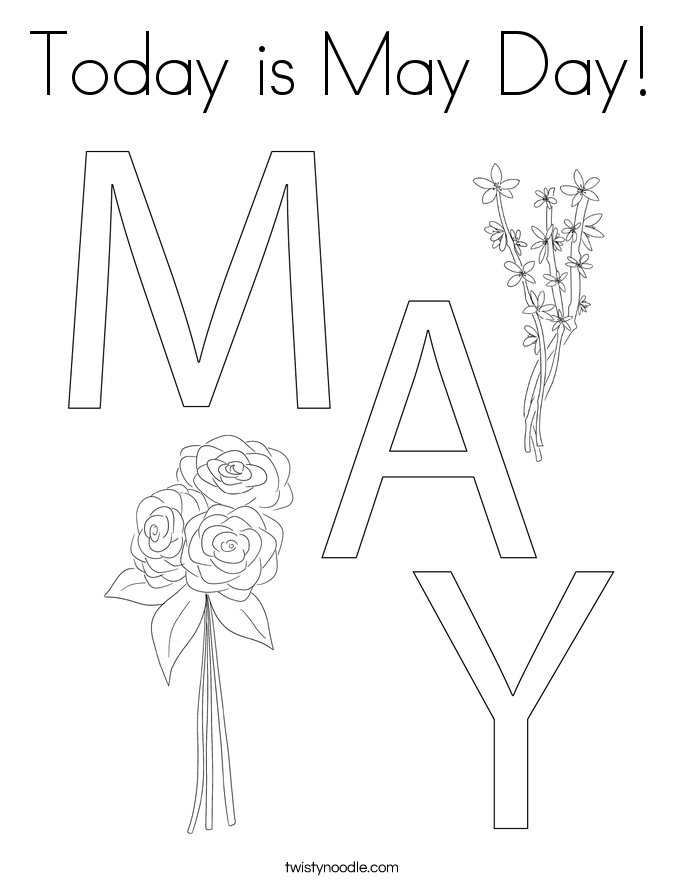 Today is May Day Coloring Page