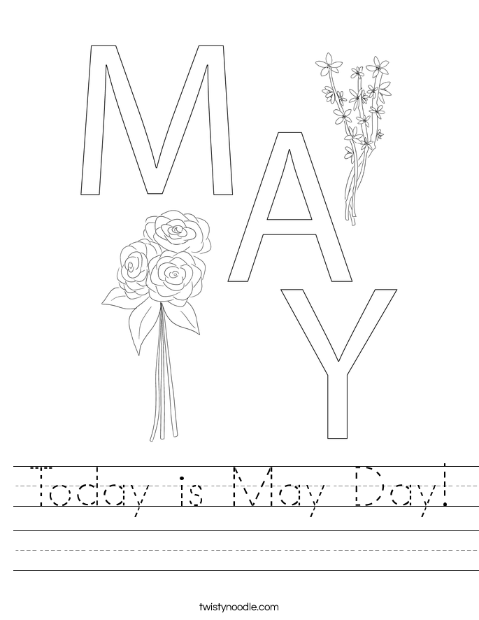 Today is May Day! Worksheet
