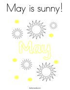 May is sunny Coloring Page