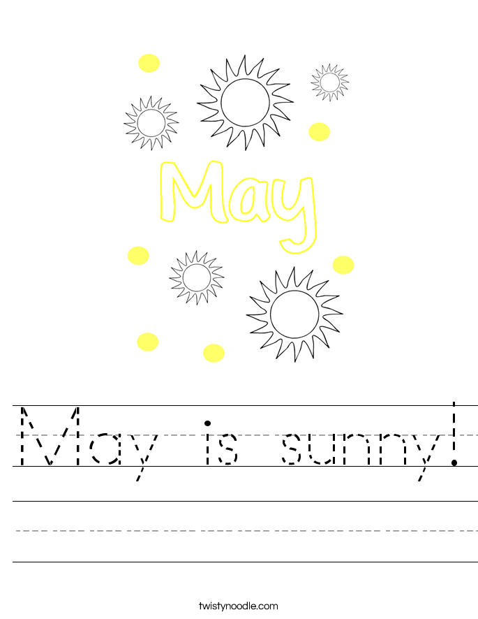 May is sunny! Worksheet