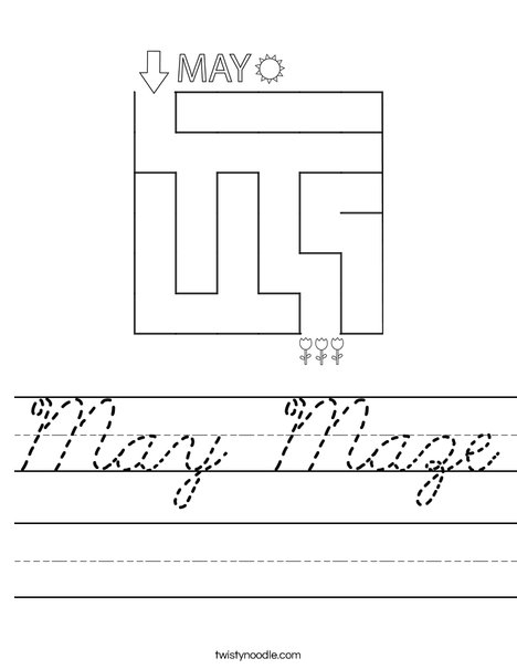 May Maze Worksheet