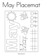 May Placemat Coloring Page