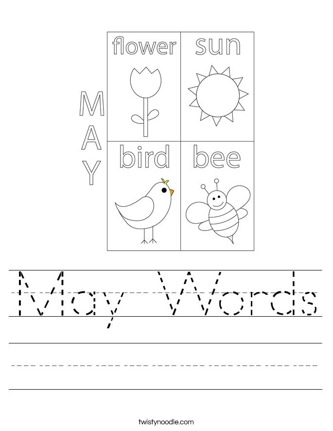 May Words Worksheet