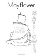 Mayflower Coloring Page