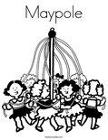 Maypole Coloring Page
