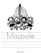 Maypole Handwriting Sheet