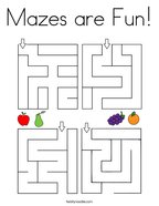 Mazes are Fun Coloring Page