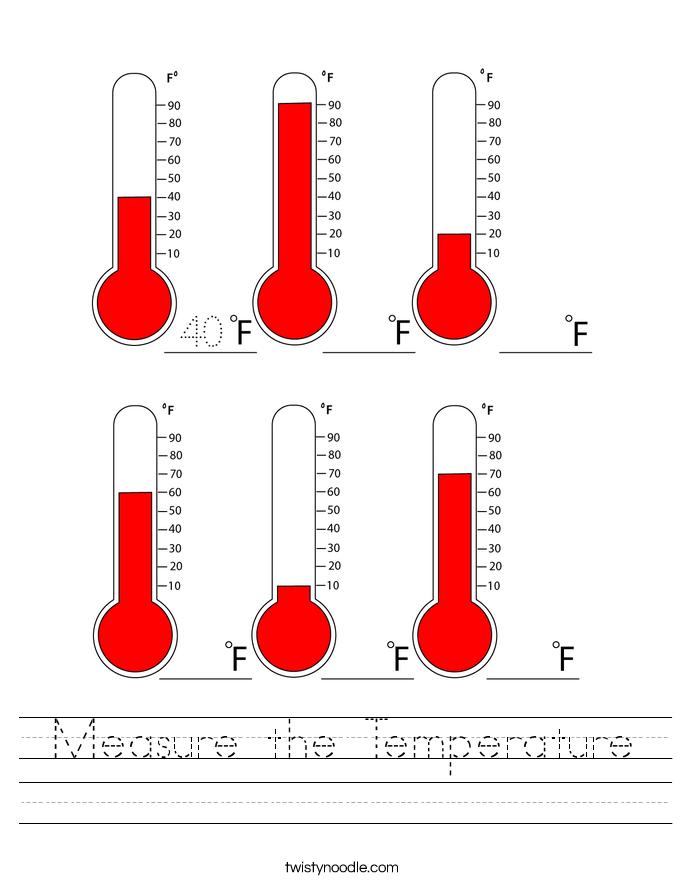 Measure the Temperature Worksheet