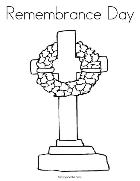 Memorial Day Cross Coloring Page