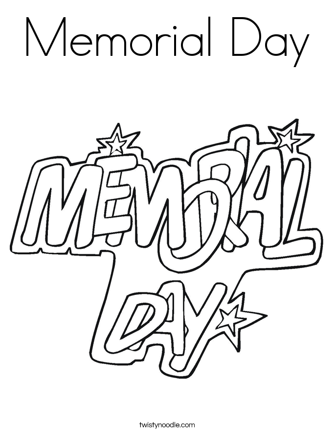 Coloring Pages For Remembrance Day : Memorial day coloring page twisty noodle