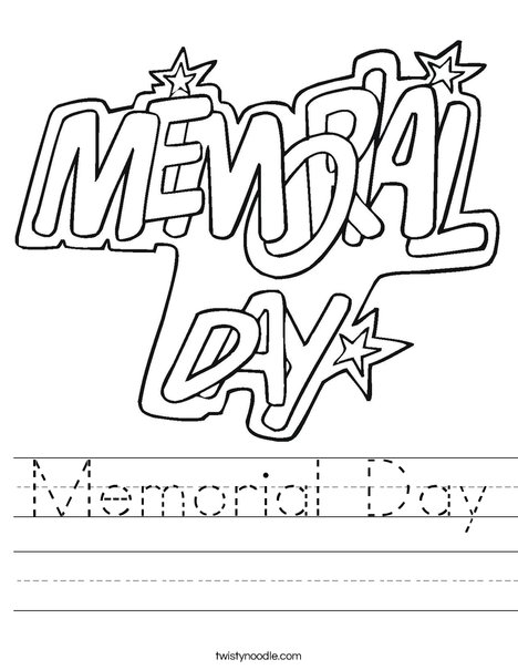 Memorial Day Stars Worksheet