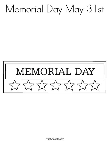Memorial Day Stars Coloring Page