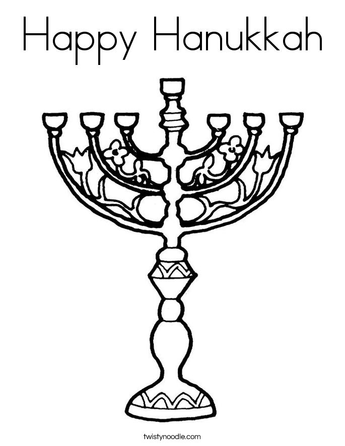 Happy Hanukkah Coloring Page - Twisty Noodle
