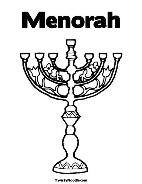 printable menorah coloring page