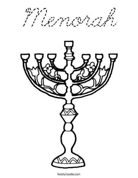 menorah template