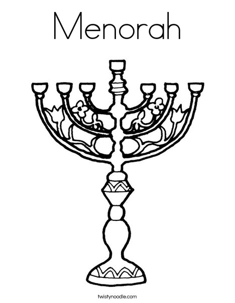 Menorah Coloring Page - Twisty Noodle