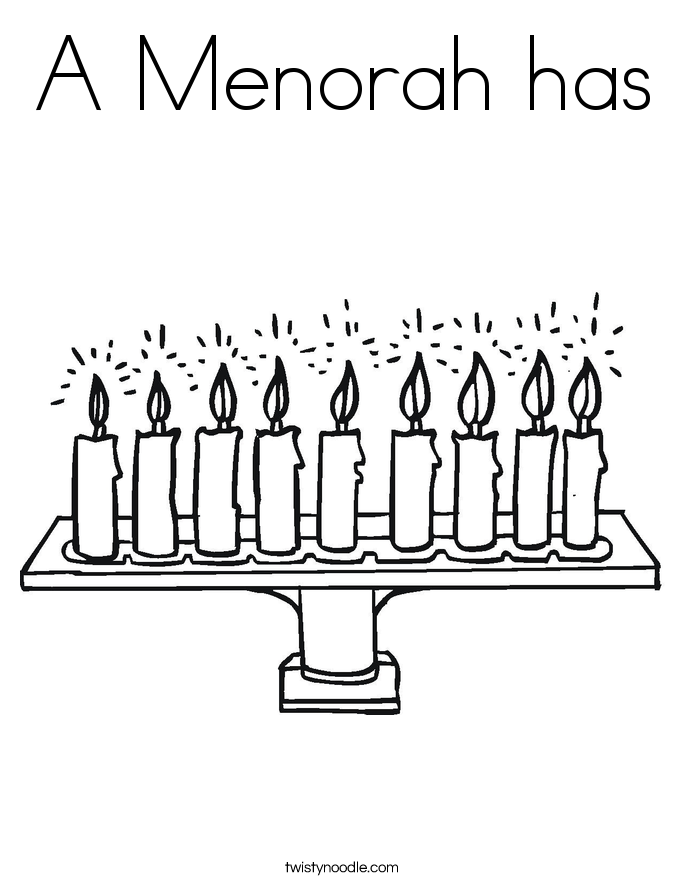 A Menorah has Coloring Page