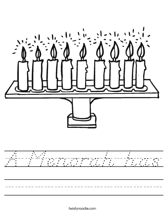 A Menorah has Worksheet