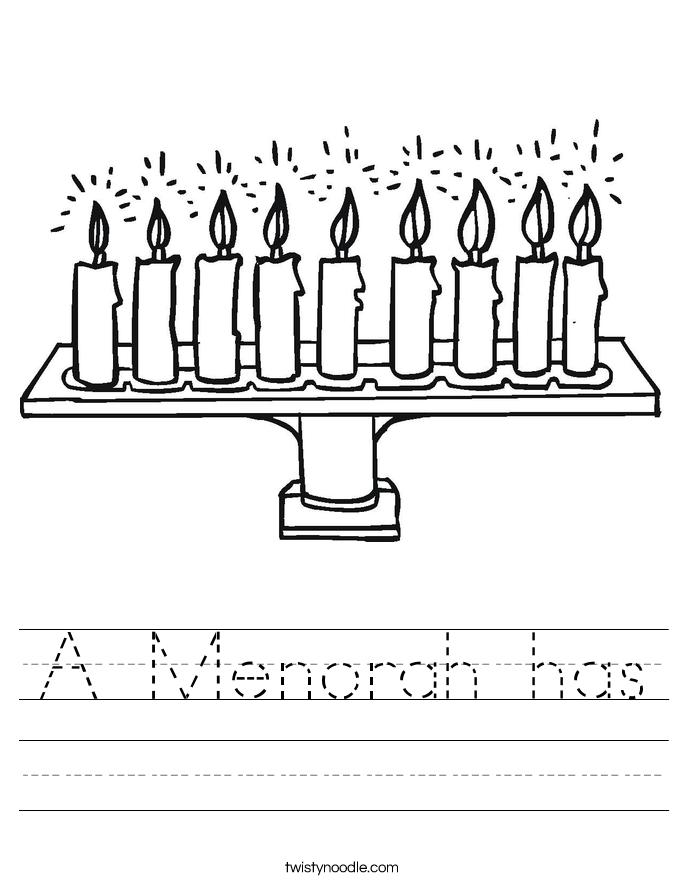 A Menorah has Worksheet