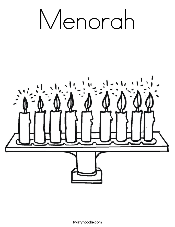 menorah coloring page twisty noodle. Black Bedroom Furniture Sets. Home Design Ideas
