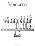 Menorah Coloring Page
