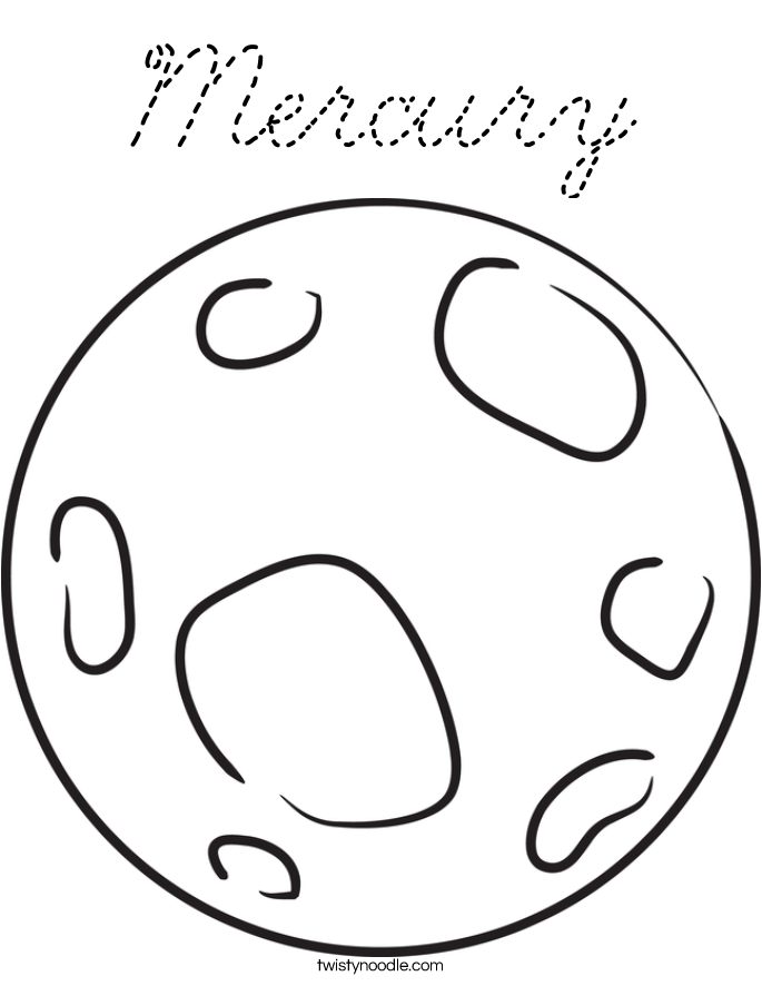 Mercury coloring page cursive twisty noodle for Coloring pages mercury