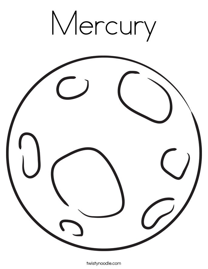 Mercury Coloring Page Twisty Noodle