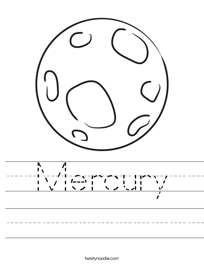 Mercury Worksheet - Twisty Noodle