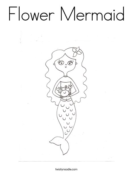 Mermaid by Melissa Coloring Page