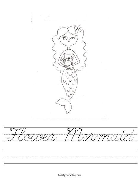 Mermaid by Melissa Worksheet