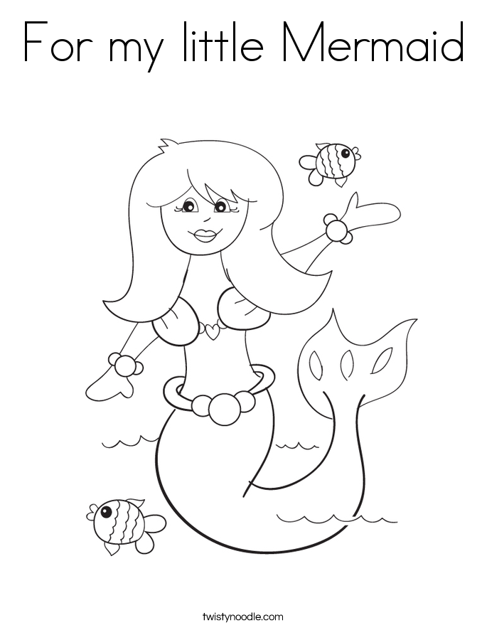 For my little Mermaid Coloring Page