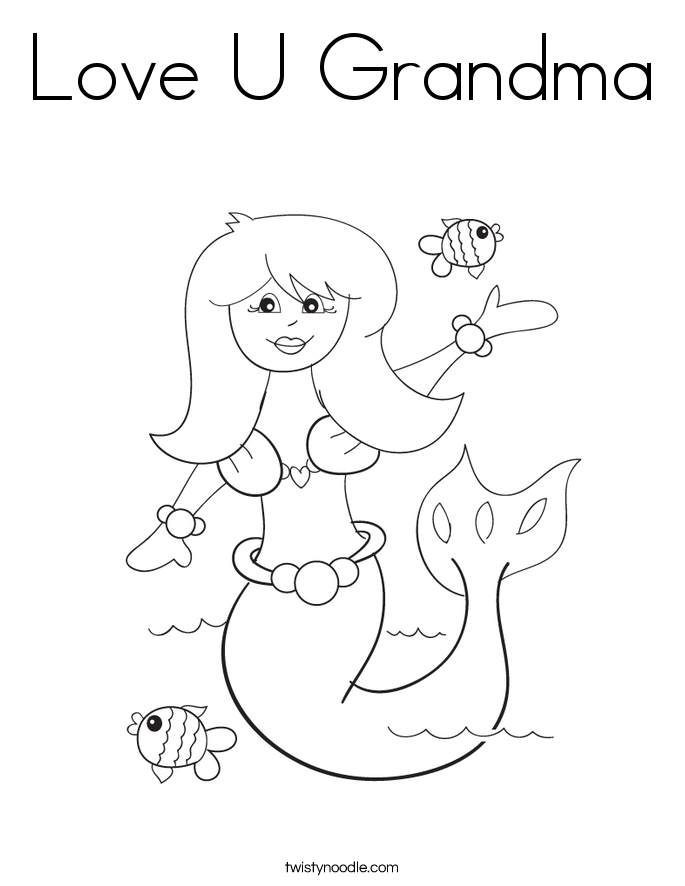 free grandma coloring pages-#22