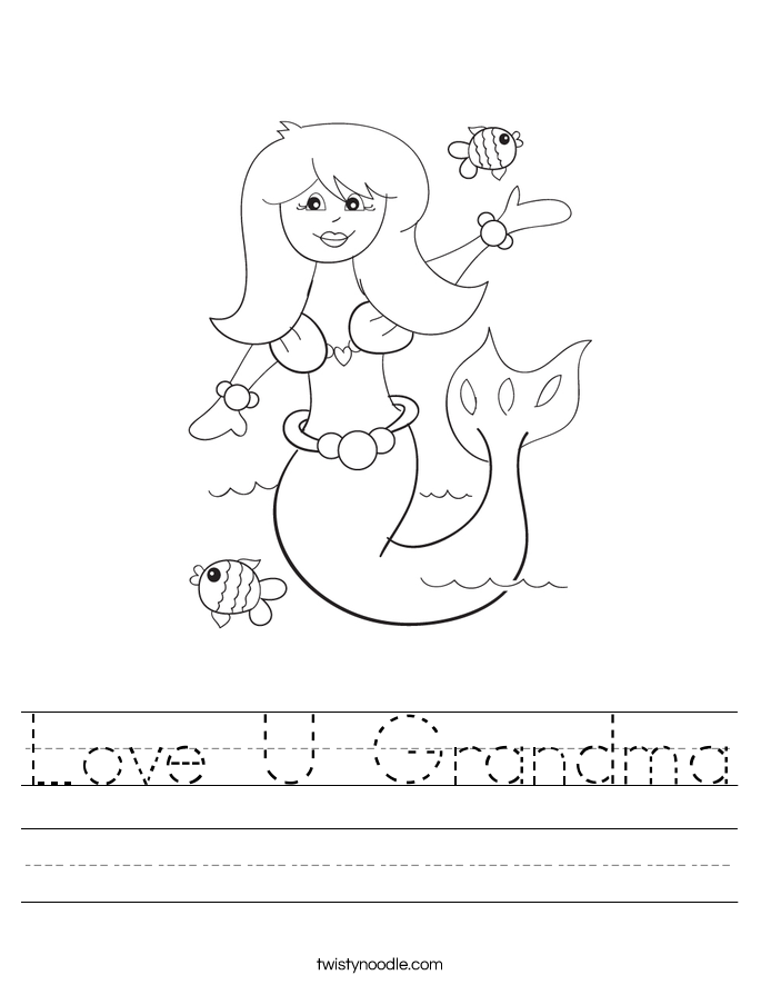 Love U Grandma Worksheet