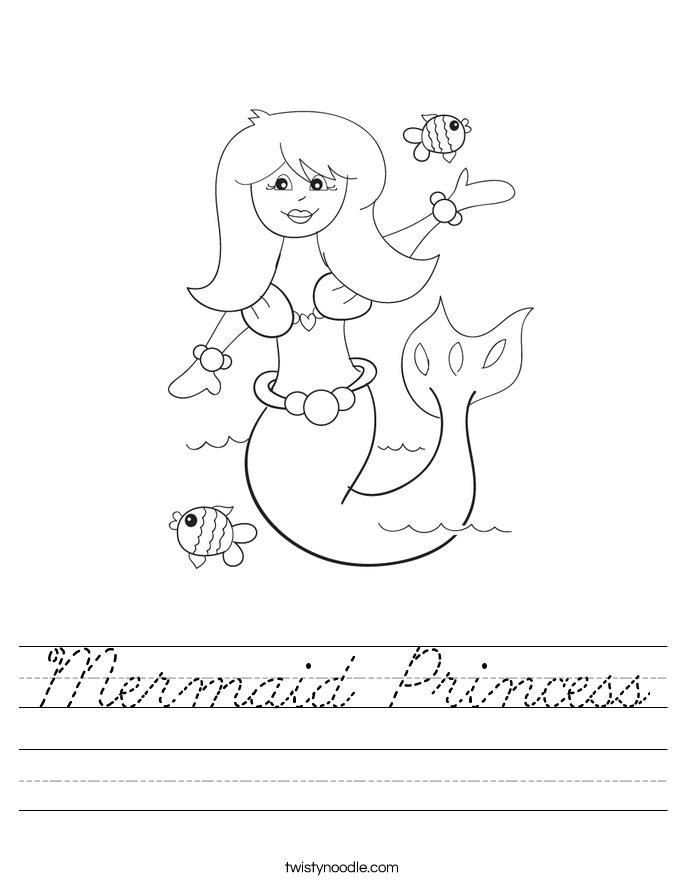 Mermaid Princess Worksheet