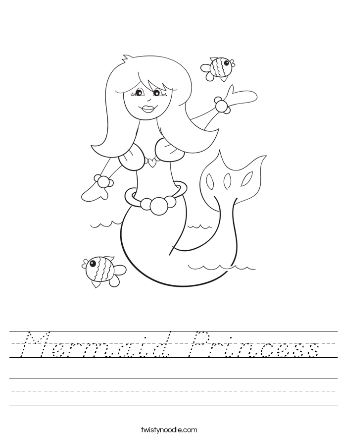 Mermaid Princess Worksheet