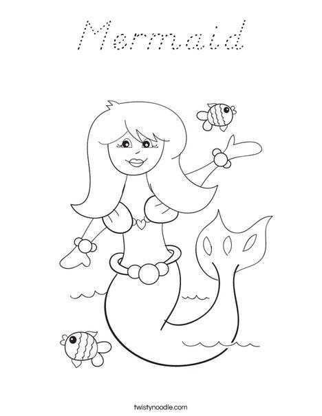 Mermaid Coloring Page