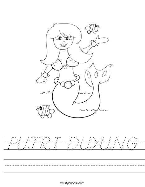 Mermaid Worksheet