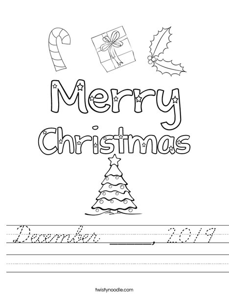 Merry Christmas Worksheet
